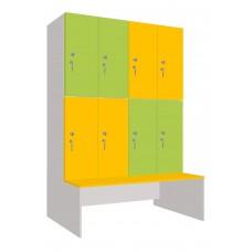 Шкаф для раздевалок. Модель 6i Секции 4. Места 8