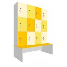 Шкаф для раздевалок. Модель 6o Секции 4. Места 12