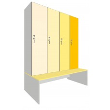 Шкаф для раздевалок. Модель 7p. Секции 4. Места 4