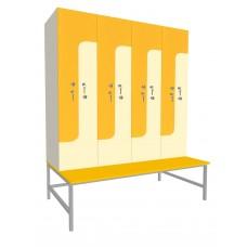 Шкаф для раздевалок. Модель 1p. Секции 4. Места 8.
