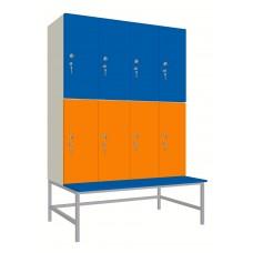 Шкаф для раздевалок. Модель 6l Секции 4. Места 8