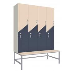 Шкаф для раздевалок. Модель 5m. Секции 4. Места 8.
