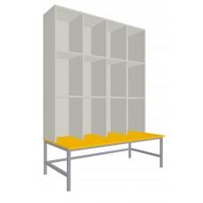 Шкаф для раздевалок. Модель 6r Секции 4. Места 12