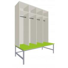 Шкаф для раздевалок. Модель 7i. Секции 4. Места 4